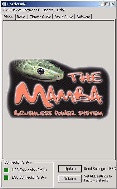 Es wurde ein Mamba-25 Regler erkannt